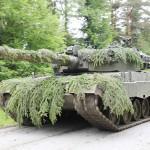 Die Kampfpanzer sichern den Vormarsch © Bundesheer / Kugelweis