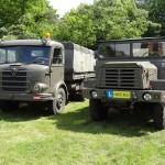 Links ein Gräf & Stift ZA-200 rechts ein Berliet GBC8MT. Beide standen beim Bundesheer im Dienst © Doppeladler.com