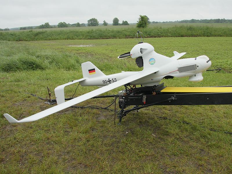 Startbereite Drohne LUNA der Deutschen Bundeswehr © Doppeladler.com