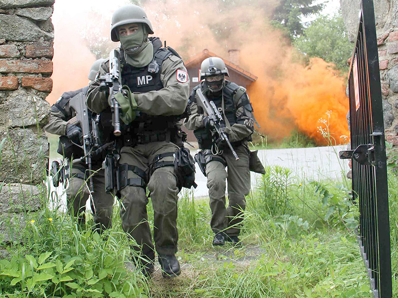 Die Militärpolizei beim Zugriff © Bundesheer / Miller