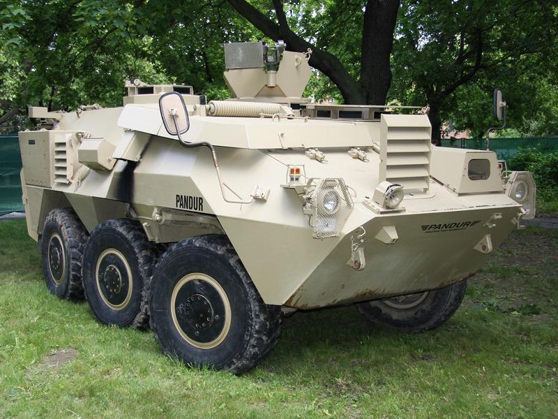 GDELS Demonstrator für den Pandur I 6x6 - ähnlich des AGMS für die US Delta Force © Doppeladler.com