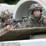 """Die """"Redland-Truppen"""" sind nicht bereit aus ihrer Hochburg Steinbach abzuziehen © Bundesheer / Stimpfl"""