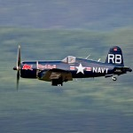 "BS2 - Chance Vought F4U-4 Corsair ""Flying Bulls"" OE-EAS im Flying © Bernhard Sitzwohl"