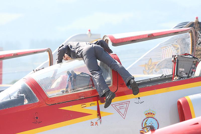 GW1 - Patrulla Aguila bei beim Putzen © Gerald Wabnegger