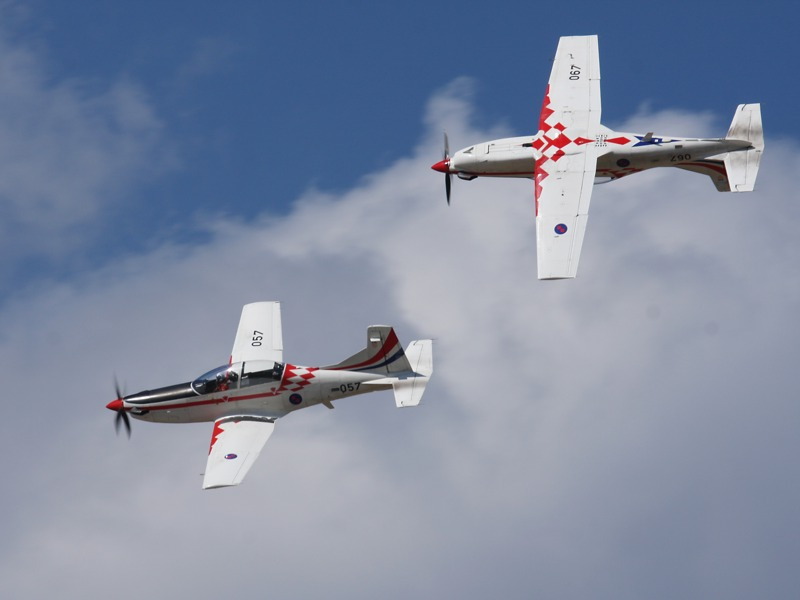 Pilatus PC-9M der Wings of Storm (Krila Oluje)