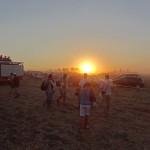 Sonnenuntergang in der Sandwüste von Kecskemet - dem Hauptparkplatz
