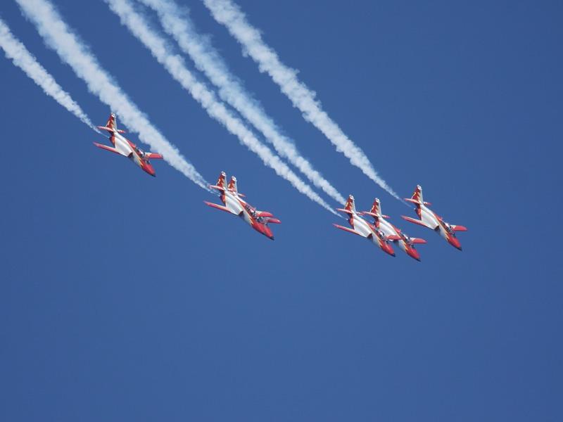 Die Patrulla Águila ist die Kunstflugstaffel der spanischen Luftstreitkräfte