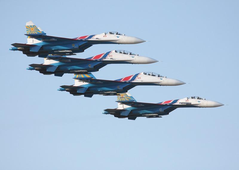 Russian Knights - die Suchoi Su-27 ist sicherlich einer der eindrucksvollsten und schönsten Jets aller Zeiten