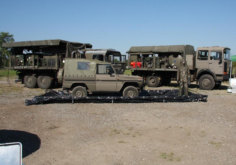 Dekontaminationsplatz der ABC Truppe