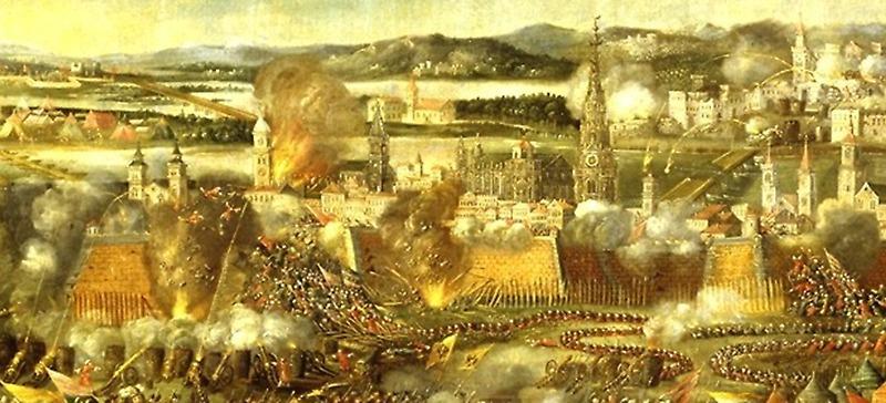 Während die Entsatzgruppen angreifen, bestürmen die Janitscharen noch die Stadt