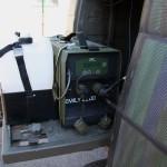 Test zur Energieversorgung eines Funk-Pinzgauers mittels Brennstoffzellen EMILY 2200 und faltbaren Solarpanelen