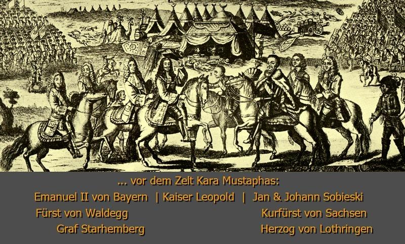 Die siegreichen Feldherren vor dem Zelt Kara Mustaphas