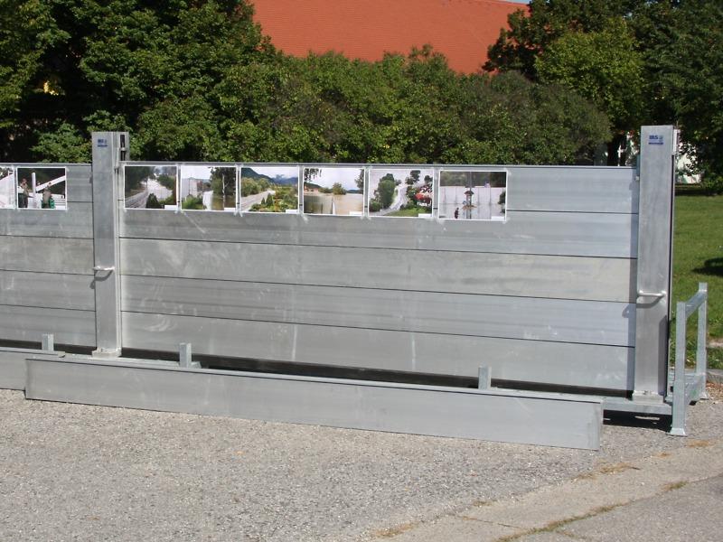 Mobile Hochwasserschutzwand - in der Wachau hocheffektiv und hochgelobt