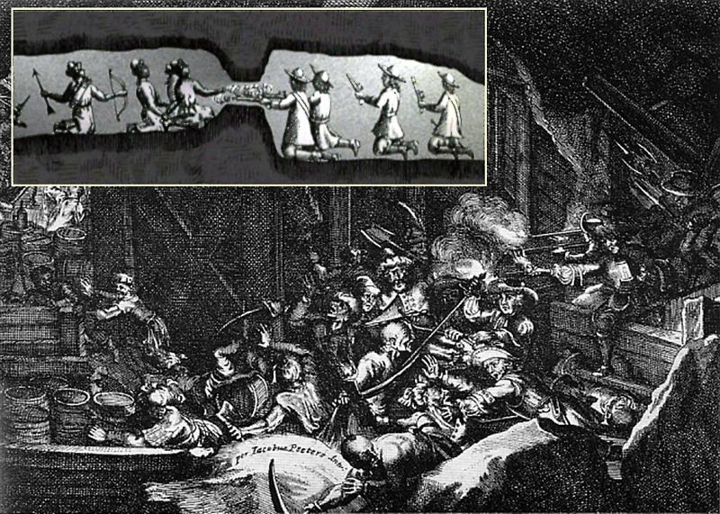 Tunnelkrieg unter den Mauern - Sappen und Gegensappen