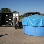 Die Wasseraufbereitungsanlage WTC-4000 erzeugt bis zu 40.000 Liter Trinkwasser pro Tag