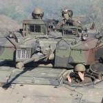 Schützenpanzer Ulan - beachte die neuen Körbe am Turm und die neuen umgelegten Drahtschneider vor den Luken am Turmdach