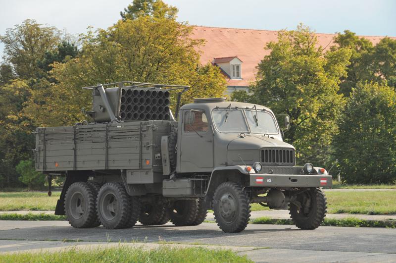 13 cm – Raketenwerfer auf RakWKW Praga V-3S © Strobl