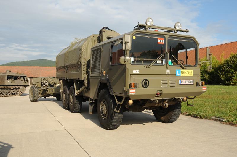 Ebenfalls in Privatbesitz ist dieser gl sLKW ÖAF der Heereskraftfahrschule © Strobl