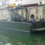 Prototyp des Arbeits- und Transportbootes © MUXVtrp