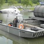 Prototyp des Arbeits- und Transportbootes vor der Lackierung © riveracross