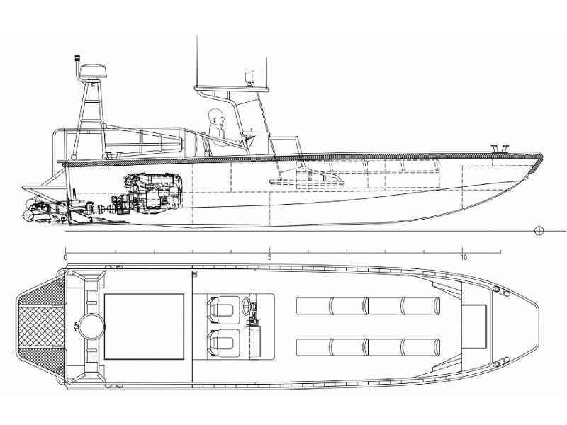 Watercat M9 alias Sturm- und Flachwasserboot © Marine Alutech