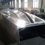 Konstruktion des Alu-Rumpfes in der Linzer ÖSWAG Werft © MUXVtrp