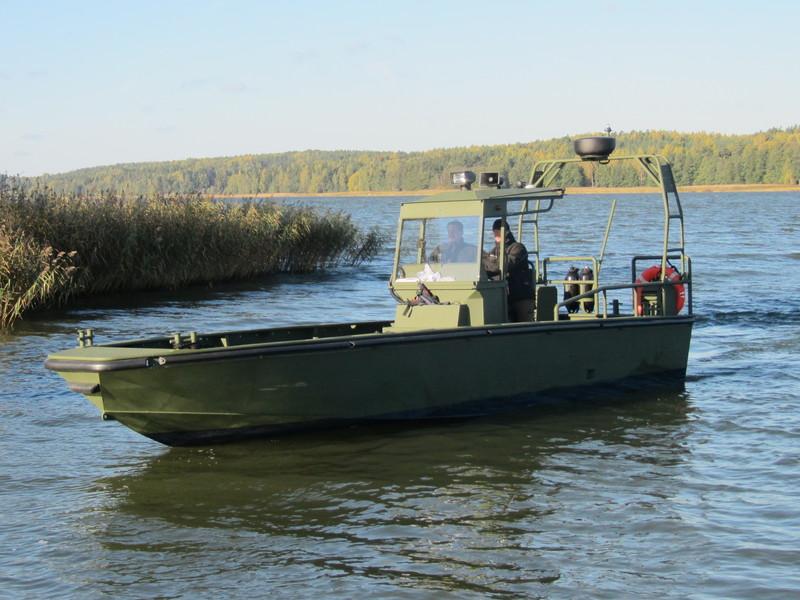 Prototyp Watercat M9 bei der Erprobung in Finnland © Marine Alutech