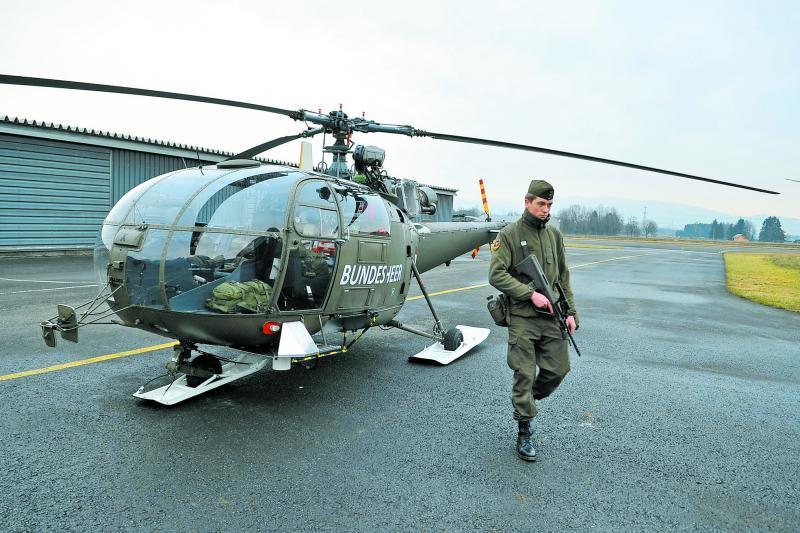Alouette III in Hohenems © Bundesheer