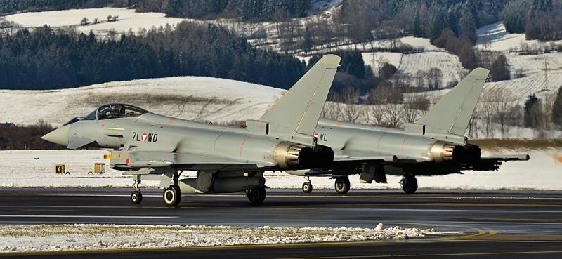 Die östereichischen Eurofighter Typhoon operierten von Zeltweg aus © Maschin