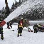 Übungseinlage für das ERTA-Team. Simuliert wurde ein Unfall eines Bell OH-58B Kiowa © Bundesheer
