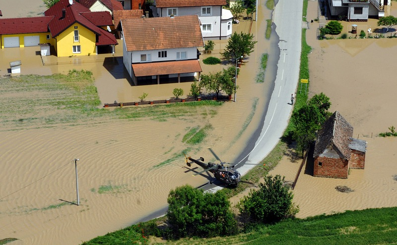 Alouette III im Evakuierungseinsatz © Bundesheer