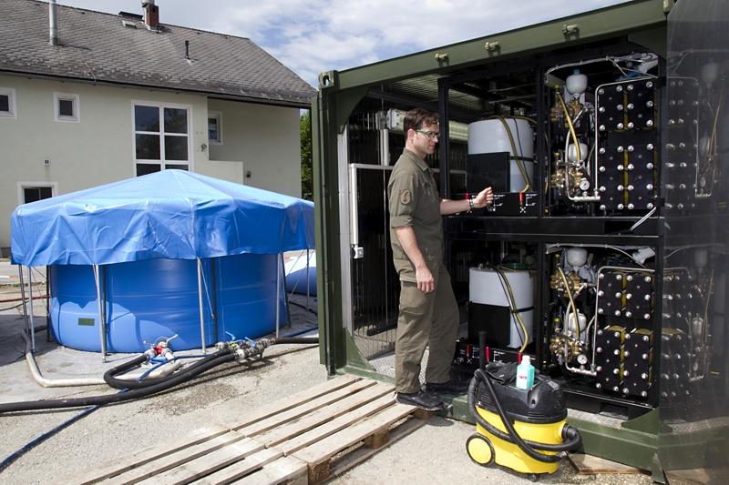 Archivbild: Osmose-Trinkwasseraufbereitungsanlage © Bundesheer