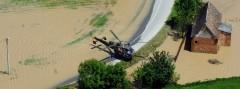 Alouette III des Bundesheeres im Hochwassereinsatz in Bosnien © Bundesheer