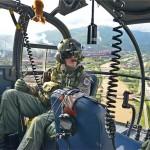 Alouette III im Hochwassereinsatz © Bundesheer