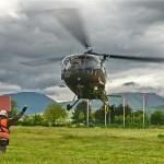 Alouette III im Evakuierungseinsatz © EUFOR Althea