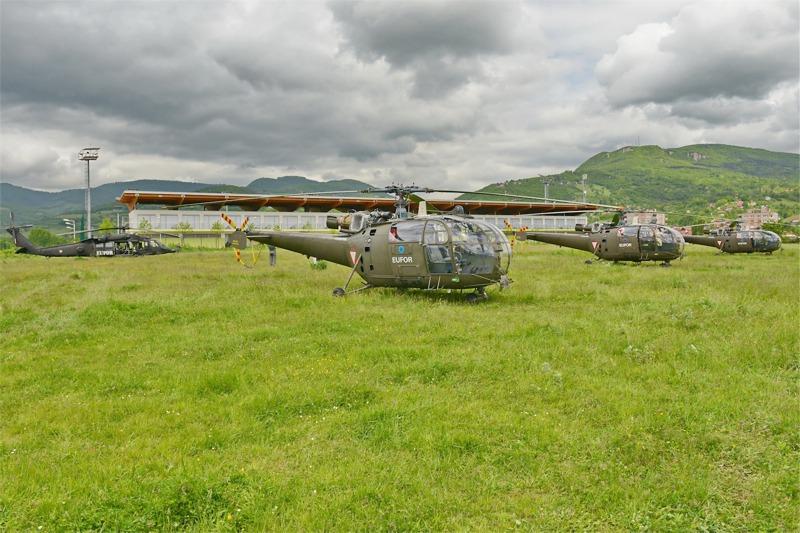 Die Bundesheer-Hubschrauber im Katastrophengebiet © EUFOR Althea