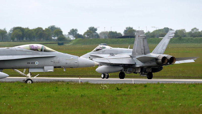 Finnische F-18 Hornets in Jagel © Luftwaffe