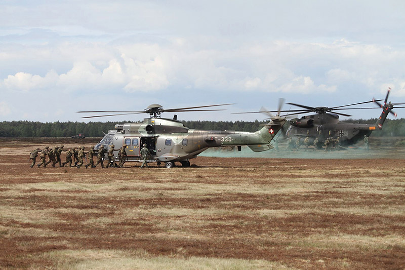 Schweizer Cougar und Deutscher CH-53 © Luftwaffe