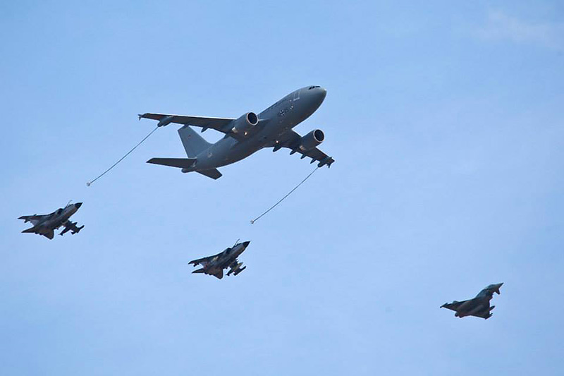 Luftbetankung von Panavia Tornado und Eurofighter Typhoon © Luftwaffe