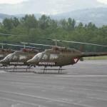 Die drei OH-58B Kiowa des Bundesheer-Kontingents © Slow. Streitkräfte