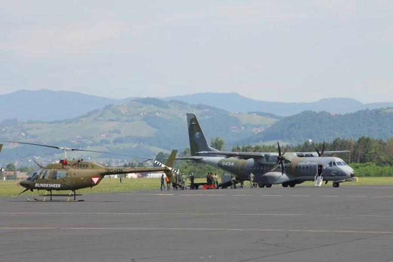 OH-58 und CASA C-295 der tschechischen Luftwaffe © Slow. Streitkräfte
