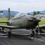 Pilatus PC-7 mit 2 MG-Pods und 2 Raketen-Pods © MMC RTV SLO