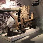 Interessant ist diese Minimalschartenkanone ( 8cm M.1894), die für Festungen gebaut wurde und auch von allen Seiten zu besichtigen ist.
