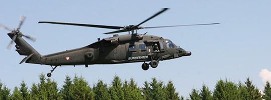 Österreichischer Black Hawk bei der Übung JAWTEX 2014 © Luftwaffe