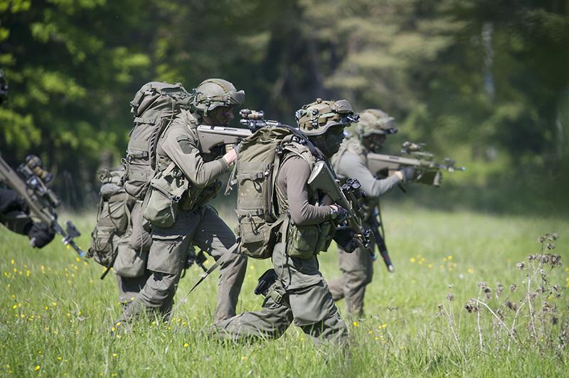 Das JgB25 beim Angriff © US Army JMTC