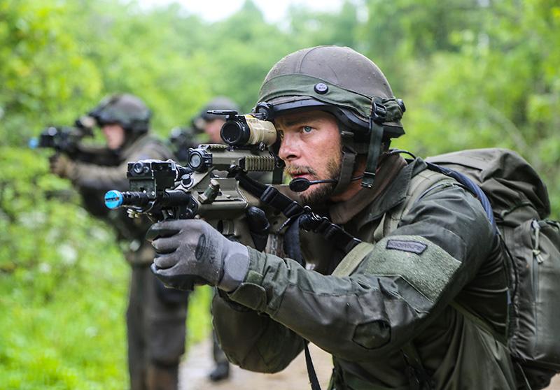 Soldat der 2. Kp / JgB25 beim Sichern © US Army JMTC