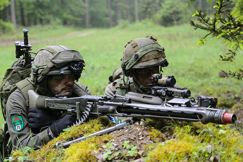 MG-Trupp des JgB25 © US Army JMTC