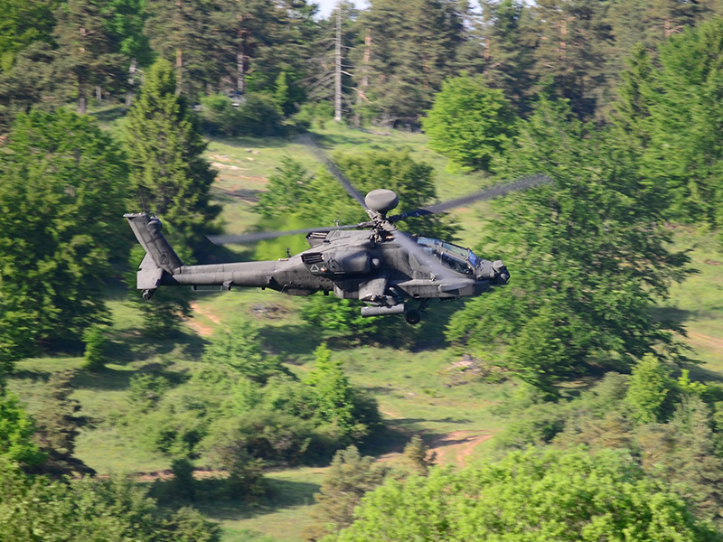 U.S. Army AH-64D Apache Longbow Kampfhubschrauber © US Army JMTC