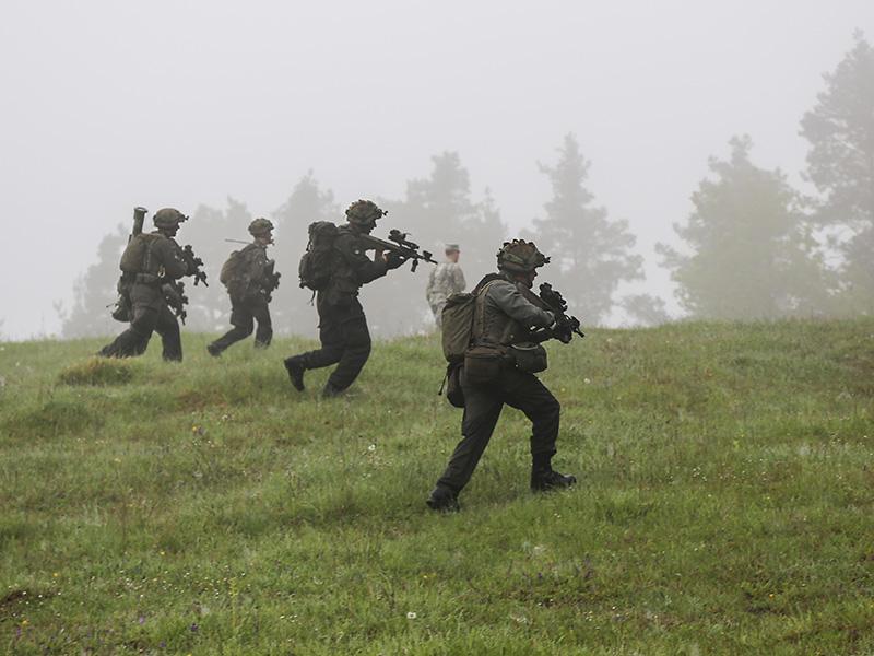 Die Österreicher rücken vor © US Army JMTC