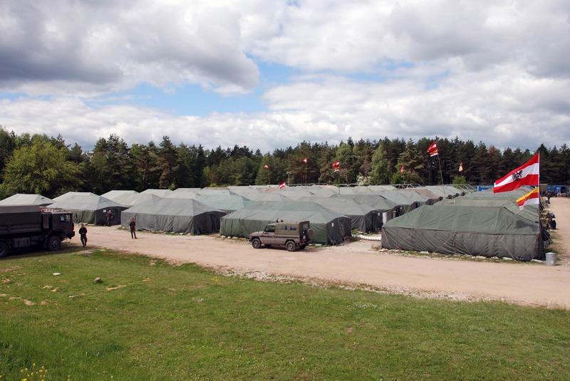 Das Feldlager der Österreicher © Bundesheer